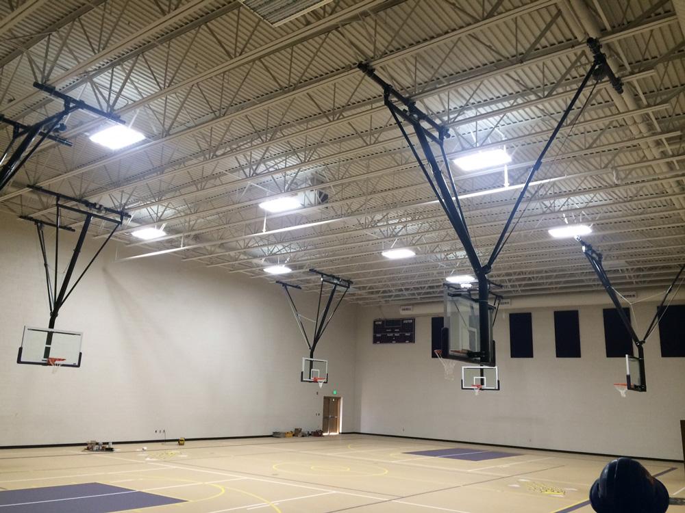 IK10 Series Lighting Bayfield HS Gym