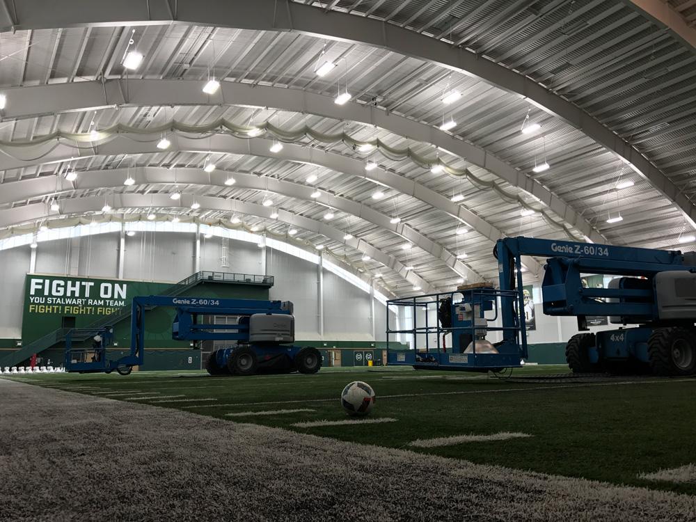 IK10 Series Lighting CSU Indoor Field House - Corner View