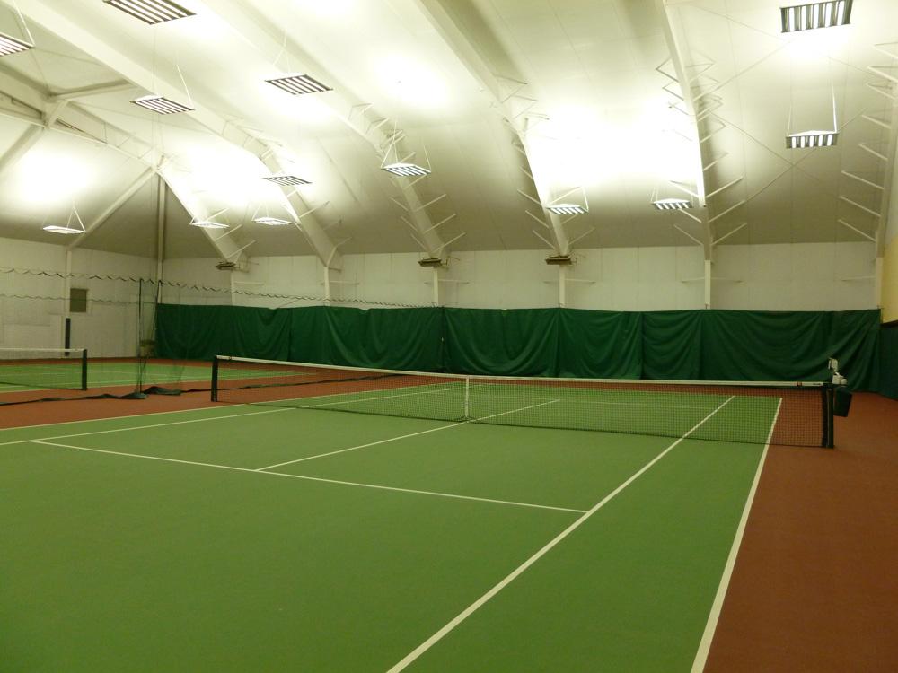 IK10 Series Lighting at Greenville Indoor tennis courts