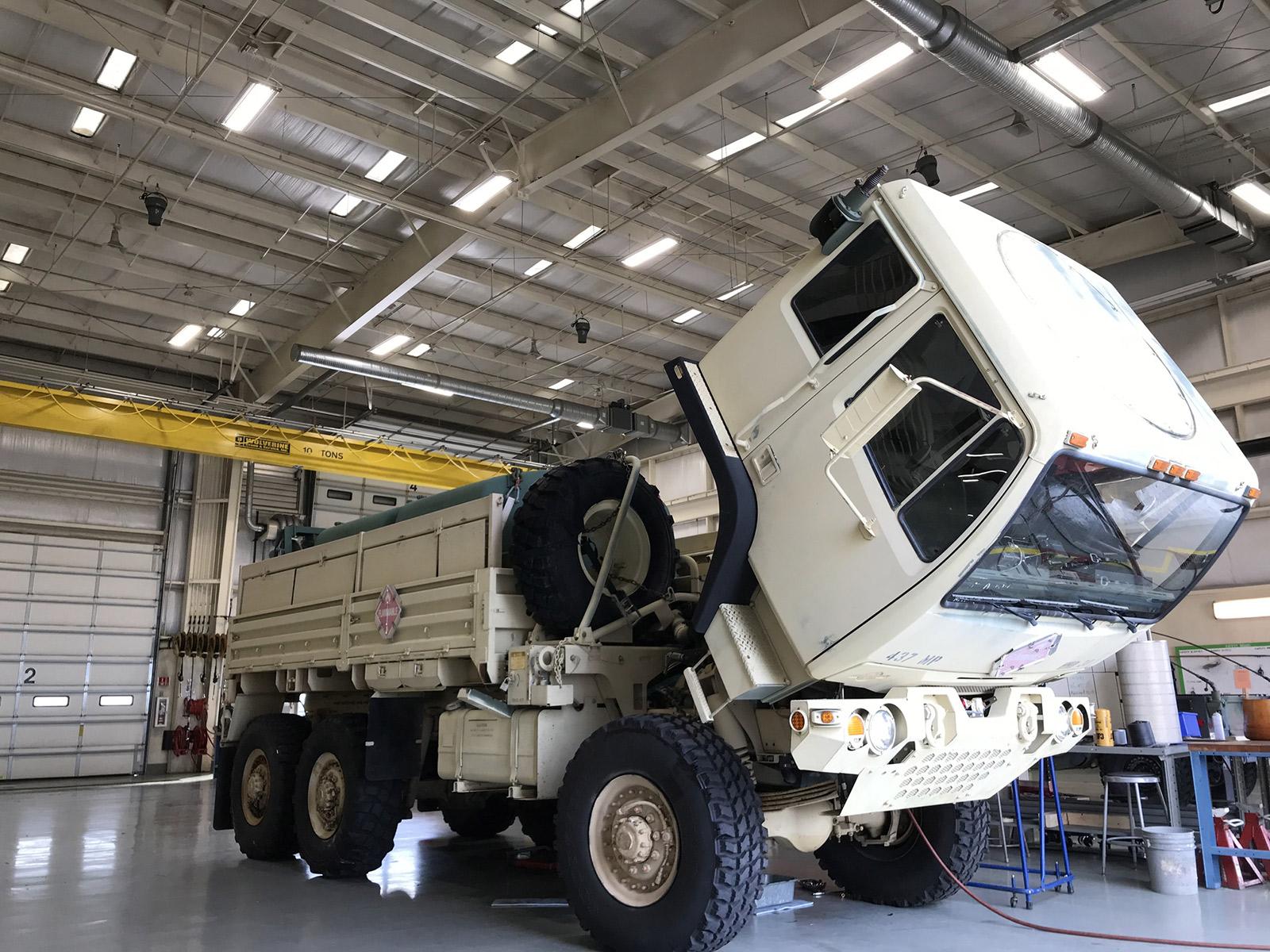 IK10 Lighting Ohio National Guard Depot with Truck