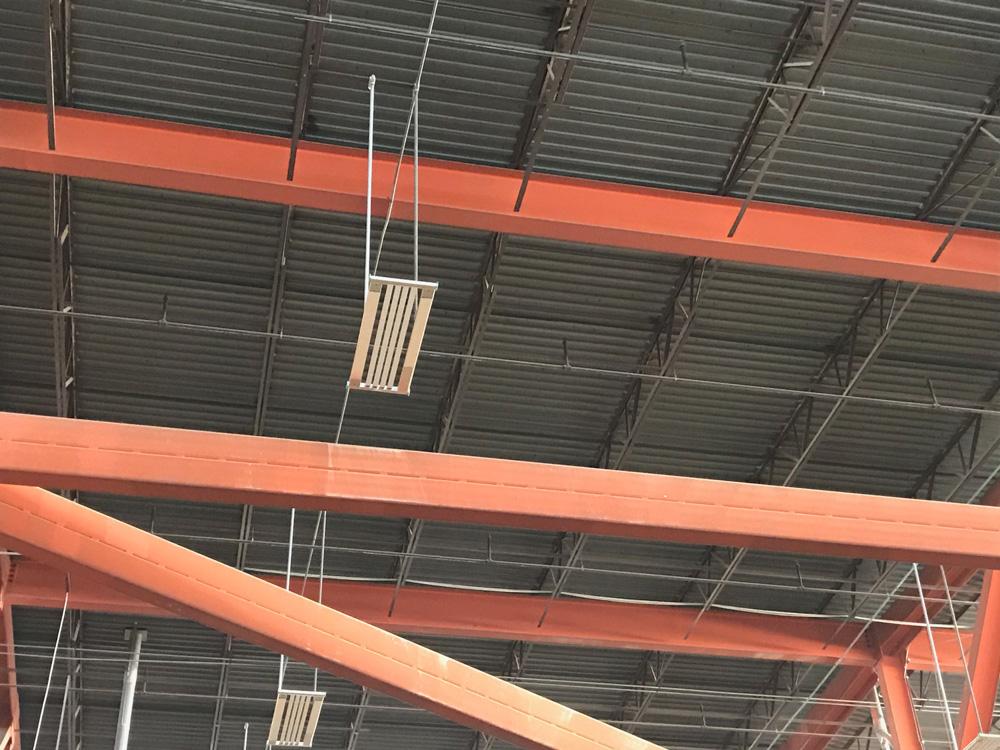 IK10 Series Lighting Fixture Installed in the LCCC Arena