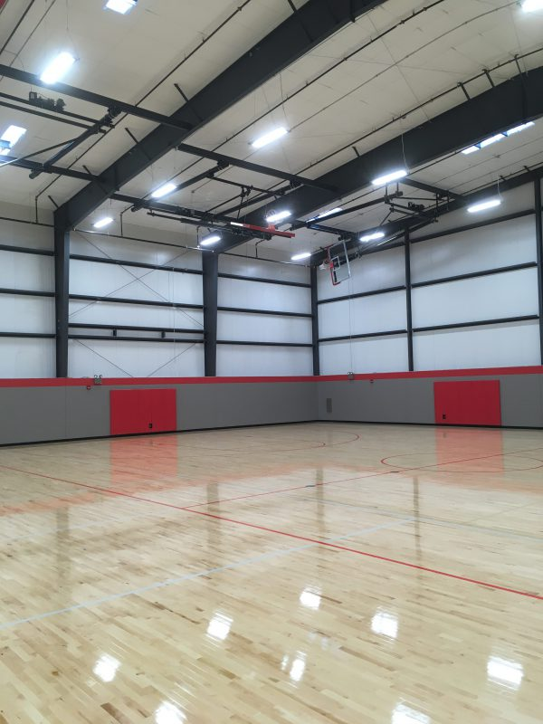 IK10 Lighting North Scott Field House Basketball Court