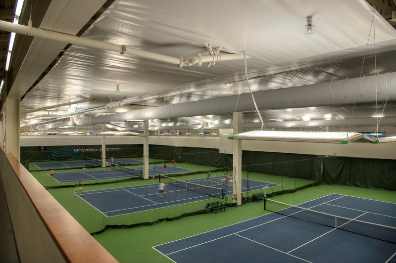 IK10 Series Lighting in Park City Indoor Tennis Courts