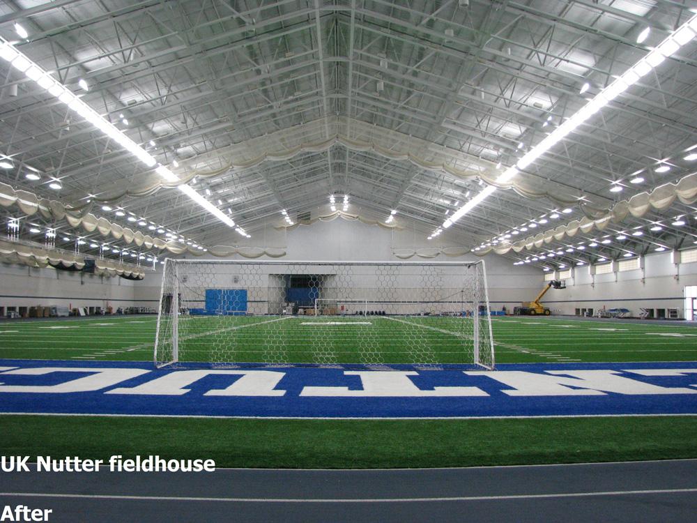 IK10 Series Lighting UK Nutter Indoor Football Field and Soccer Net