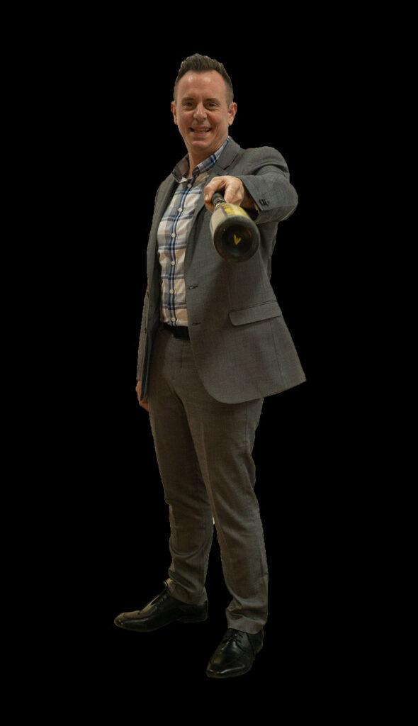 Bryan Arrington holding baseball bat