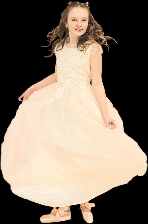 little girl in dress Keoni